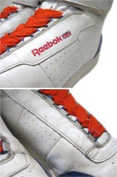 画像5: Reebok Classic Hi-Cut Leather Sneaker WHITE / BLUE size 10 1/2 (28.5 cm) (5)