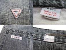 """画像3: 1980's """"VASCO"""" Design Black Denim Pants Fade Black size 31.5 inch (表記 w 31) (3)"""