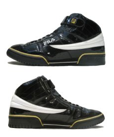 画像2: FILA Hi-Cut Enamel Sneaker BLACK / WHITE / GOLD size 13 ( 31 cm) (2)