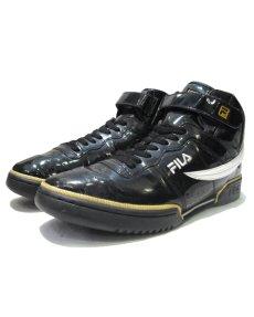 画像1: FILA Hi-Cut Enamel Sneaker BLACK / WHITE / GOLD size 13 ( 31 cm) (1)