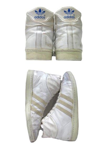 """画像2: 1970-80's adidas """"JABBAR"""" Hi-Cut Basketball Shoes made in France WHITE size 11 (表記 29 cm)"""