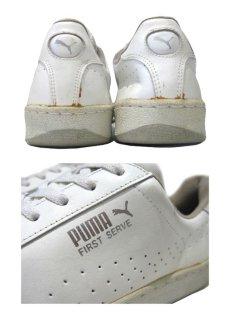 """画像5: 1980's PUMA """"First Serve"""" Leather Tennis Shoes WHITE size 11 (29 cm) (5)"""