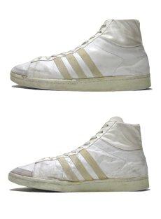 """画像2: 1970-80's adidas """"JABBAR"""" Hi-Cut Basketball Shoes made in France WHITE size 11 (表記 29 cm) (2)"""