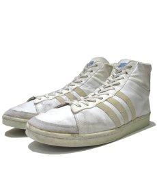 """画像1: 1970-80's adidas """"JABBAR"""" Hi-Cut Basketball Shoes made in France WHITE size 11 (表記 29 cm) (1)"""