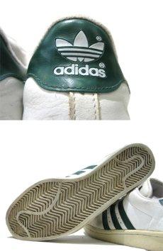 """画像3: 1990's adidas """"Super Star"""" Leather Sneaker WHITE / GREEN size 12 (30 cm) (3)"""