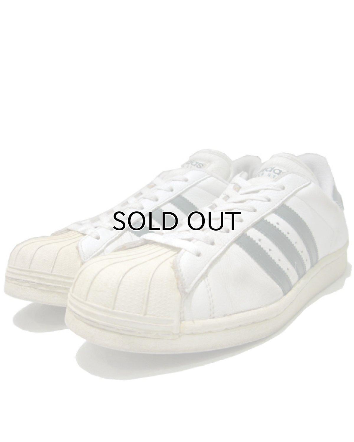 """画像1: 1990's adidas """"Super Star"""" Leather Sneaker WHITE / GREEN size 12 (30 cm) (1)"""
