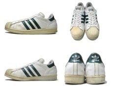 """画像2: 1990's adidas """"Super Star"""" Leather Sneaker WHITE / GREEN size 12 (30 cm) (2)"""