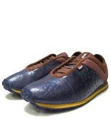 """画像1: """"PONY"""" Leather x Mesh Design Sneaker NAVY / BROWN size 10 (28 cm) (1)"""