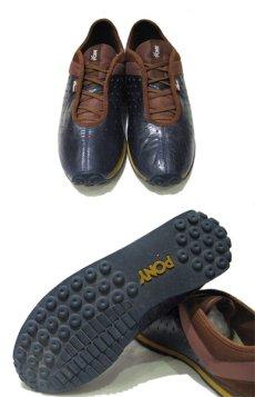 """画像2: """"PONY"""" Leather x Mesh Design Sneaker NAVY / BROWN size 10 (28 cm) (2)"""