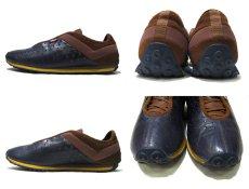 """画像3: """"PONY"""" Leather x Mesh Design Sneaker NAVY / BROWN size 10 (28 cm) (3)"""