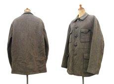 画像2: 1950's French Cotton Pique Hunting Jacket BROWN size M (表記なし) (2)