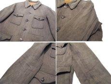 画像5: 1950's French Cotton Pique Hunting Jacket BROWN size M (表記なし) (5)