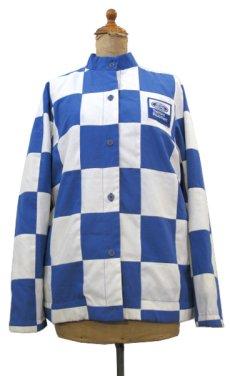 """画像1: 1980's """"MArguerite Rubel"""" Checker Flag Jacket BLUE / WHITE size S - M (表記 12) (1)"""