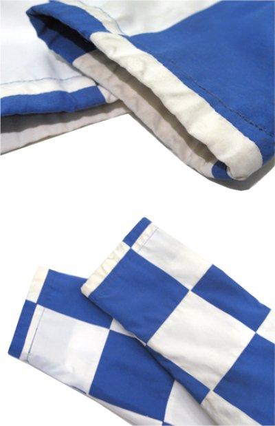 """画像2: 1980's """"MArguerite Rubel"""" Checker Flag Jacket BLUE / WHITE size S - M (表記 12)"""