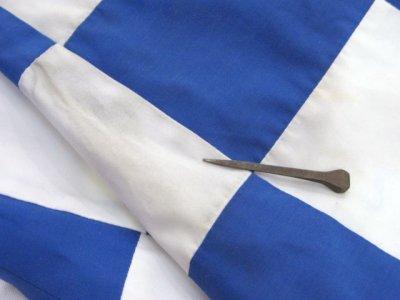 """画像1: 1980's """"MArguerite Rubel"""" Checker Flag Jacket BLUE / WHITE size S - M (表記 12)"""