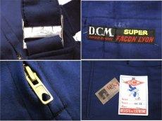 """画像3: ~1960's French """"DCM"""" Moleskin Worker Overall Dead Stock BLUE size M (表記 44) (3)"""