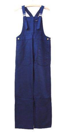 """画像1: ~1960's French """"DCM"""" Moleskin Worker Overall Dead Stock BLUE size M (表記 44) (1)"""