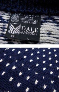 """画像3: 1970's~ """"DALE"""" Pullover Nordic Sweater NAVY size L (表記 L) (3)"""