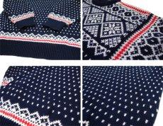 """画像4: 1970's~ """"DALE"""" Pullover Nordic Sweater NAVY size L (表記 L) (4)"""