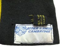 "画像4: 1960's~ ""Ryder & Amies CAMBRIDGE"" England School Muffler GREEN 162cm x 24cm  (4)"