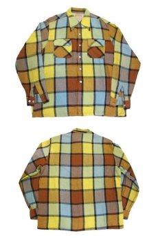 """画像4: ~1960's """"McGREGOR""""  L/S Wool Box Shirts YELLOW size L (表記 L) (4)"""