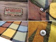 """画像5: ~1960's """"McGREGOR""""  L/S Wool Box Shirts YELLOW size L (表記 L) (5)"""