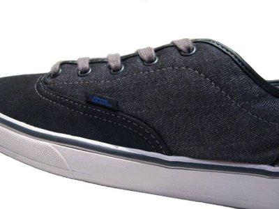 """画像1: NEW VANS """"ERA"""" Skate Shoes BLACK / GREY size 9 1/2 ( 27.5cm )"""