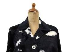 画像3: 1970's Cow Spot Pattern Box Blouson Black / White size S - M (表記 不明) (3)