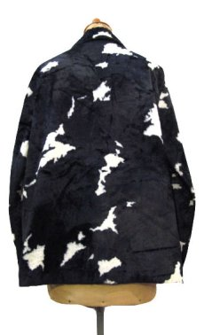画像2: 1970's Cow Spot Pattern Box Blouson Black / White size S - M (表記 不明) (2)
