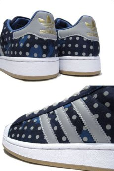 "画像3: NEW◆adidas ""SUPER STAR II"" Canvas Dot Sneaker BLUE size  9 ,  9.5 (3)"