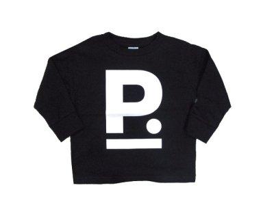 """画像2: """"ポエムのロンティー""""  for KID'S  """" P """" BLACK size  3 (90cm~95cm)"""
