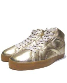 "画像1: NEW ""Reebok"" Gold Foil Hi-Cut Sneaker Silver size 10 / 11 (1)"