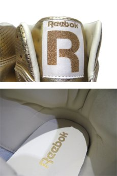 "画像4: NEW ""Reebok"" Gold Foil Hi-Cut Sneaker Silver size 10 / 11 (4)"