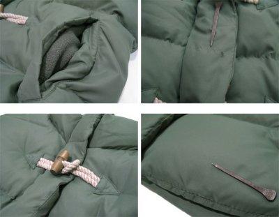 """画像1: """"J.CREW"""" Toggle Front Down Vest GREEN size M (表記 M)"""