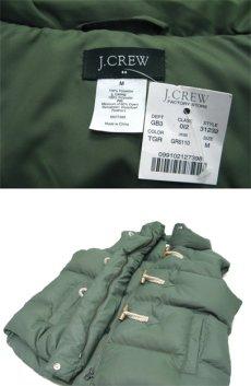 """画像3: """"J.CREW"""" Toggle Front Down Vest GREEN size M (表記 M) (3)"""