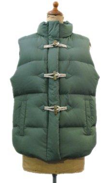 """画像1: """"J.CREW"""" Toggle Front Down Vest GREEN size M (表記 M) (1)"""