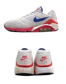 """画像2: NIKE """"AIR 180"""" Running Sneaker White / Pink / Blue size 9.5 (27.5 cm) (2)"""