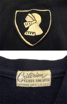 """画像3: 1950's """"Criterion"""" Lettered Wool Sweater BLACK size S (表記 不明) (3)"""