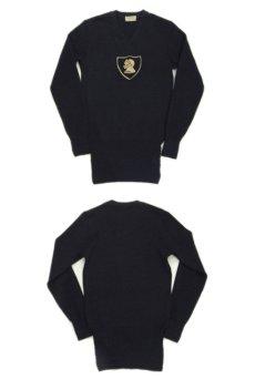 """画像2: 1950's """"Criterion"""" Lettered Wool Sweater BLACK size S (表記 不明) (2)"""