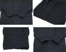 """画像4: 1950's """"Criterion"""" Lettered Wool Sweater BLACK size S (表記 不明) (4)"""