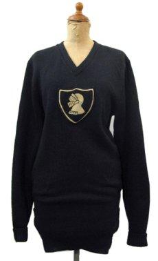 """画像1: 1950's """"Criterion"""" Lettered Wool Sweater BLACK size S (表記 不明) (1)"""