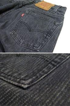 """画像5: 1990's """"Levi's 501 Chemical Wash Stripe Denim Pants Black Denim size w 30 inch (表記 30 x 34) (5)"""