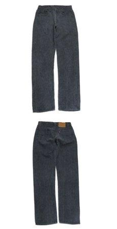 """画像3: 1990's """"Levi's 501 Chemical Wash Stripe Denim Pants Black Denim size w 30 inch (表記 30 x 34) (3)"""