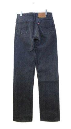 """画像2: 1990's """"Levi's 501 Chemical Wash Stripe Denim Pants Black Denim size w 30 inch (表記 30 x 34) (2)"""