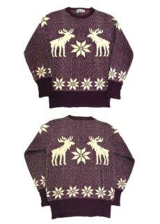 """画像4: 1940-50's """"Catalina"""" Wool Nordic Sweater Burgundy size S - M (表記 不明) (4)"""