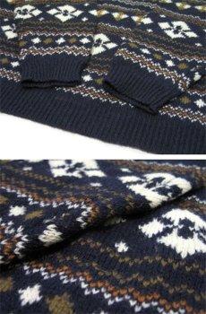 """画像4: 1980's~ """"Nordstrom"""" Shetland Wool Nordic Sweater NAVY size M (表記 M) (4)"""