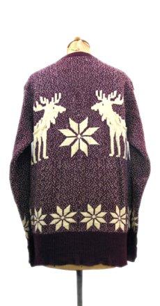 """画像2: 1940-50's """"Catalina"""" Wool Nordic Sweater Burgundy size S - M (表記 不明) (2)"""