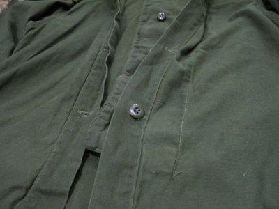 画像1: 1970's US Military Chemical Protect Linner Shirts OLIVE size M (表記 M)