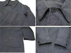 """画像4: 1950's """"French"""" Salt and Pepper Atelier Coat  size M - L (4)"""