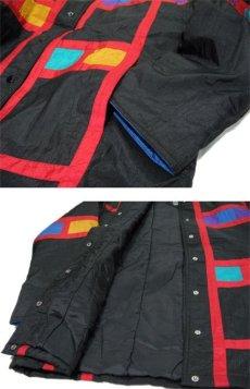"""画像5: 1990's """"Spencer Douglas"""" Design Nylon Patting Jacket BLACK size M (表記 M) (5)"""